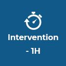 Intervention en moins d'une heure !